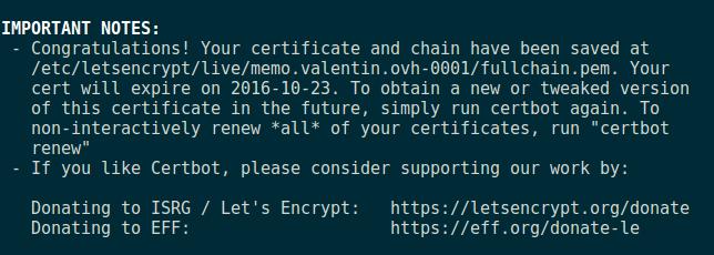 SSL Confirmation Ok