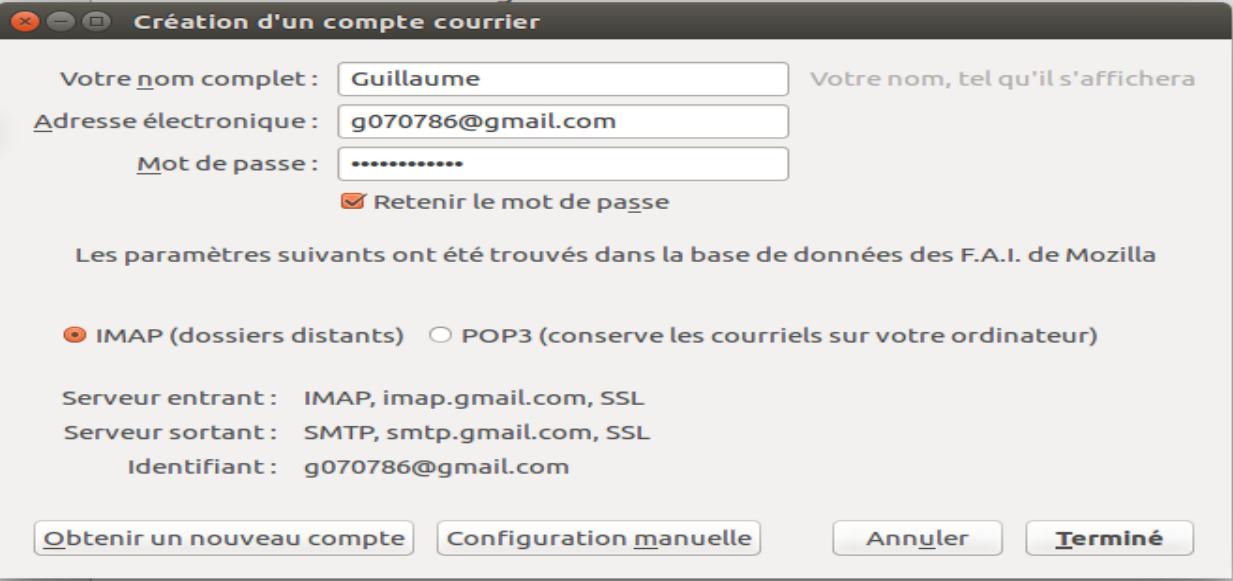 illustration type de compte mail