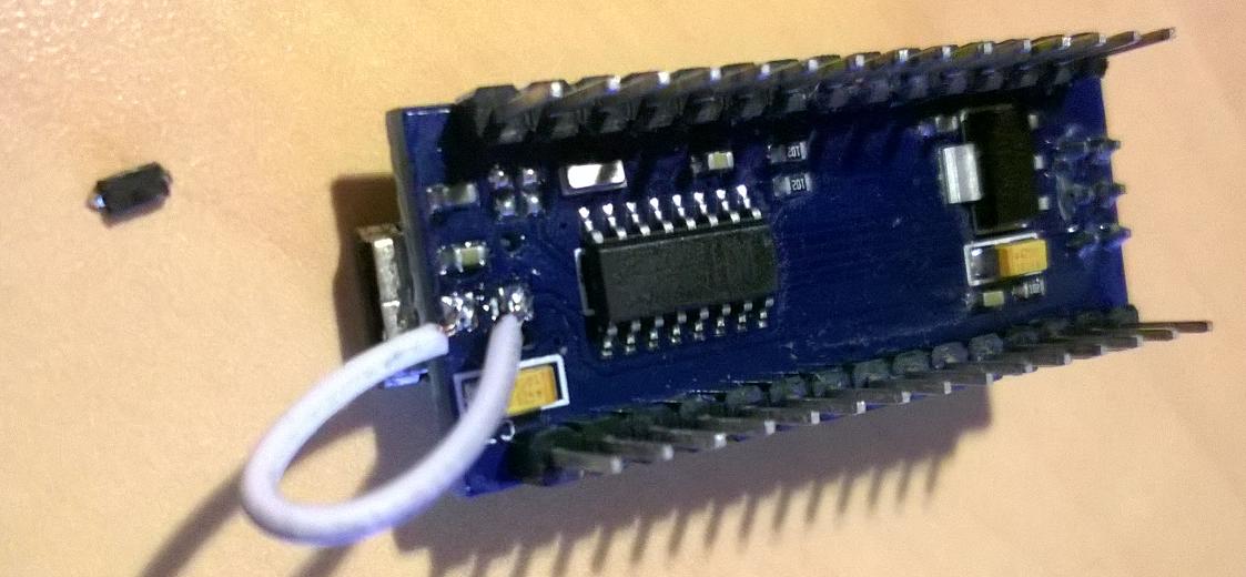 photo de l'Arduino depanné